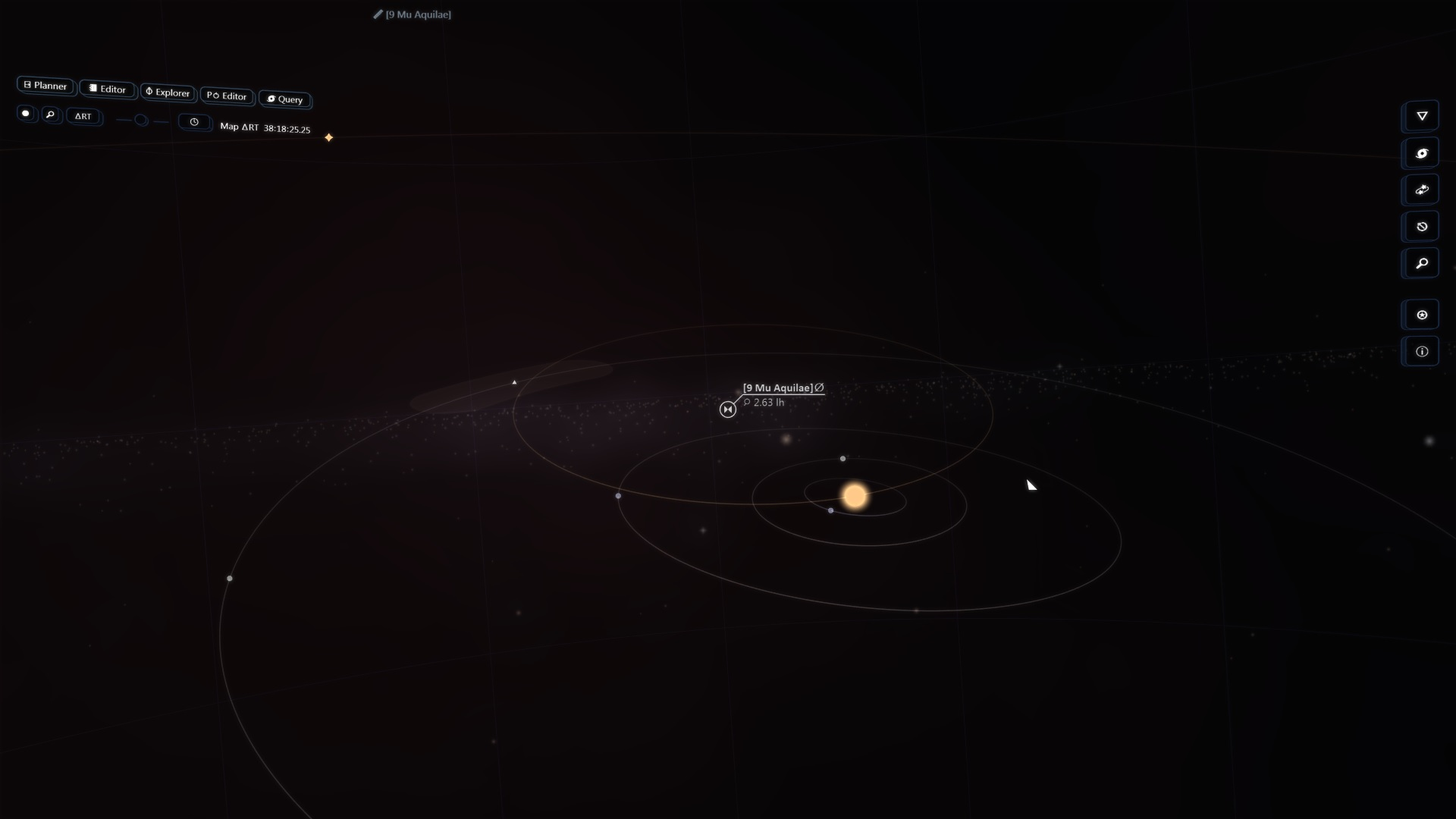 a binary star system in the nav station