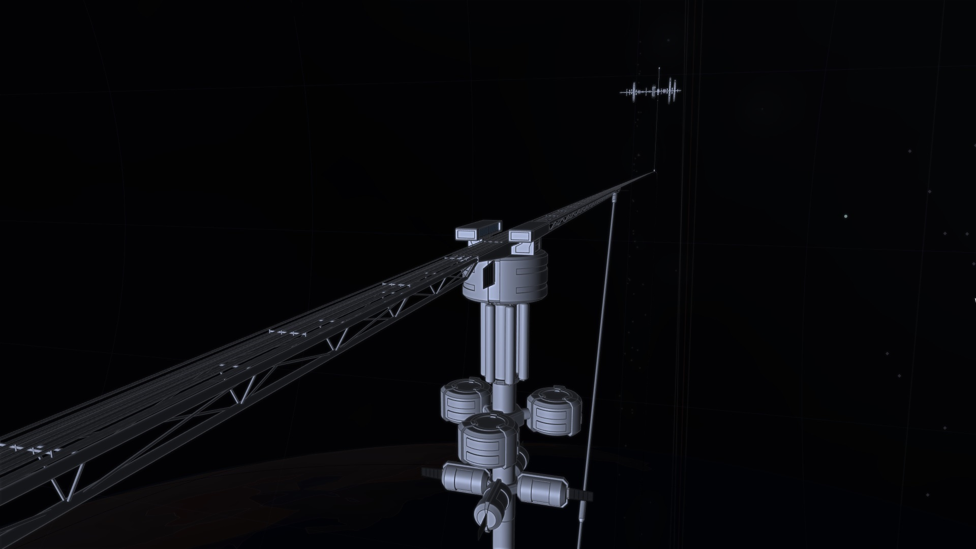 Orbital Ring Station in approach